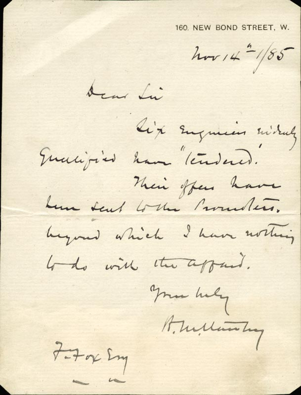 Image 1 for Henry M. Stanley - Autograph Letter Signed 11/14/1885 - HFSID 79898