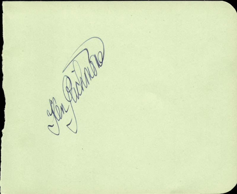 Image 3 for Abbott & Costello (Lou Costello) - Autograph co-signed by: Kenneth Richmond - HFSID 79922