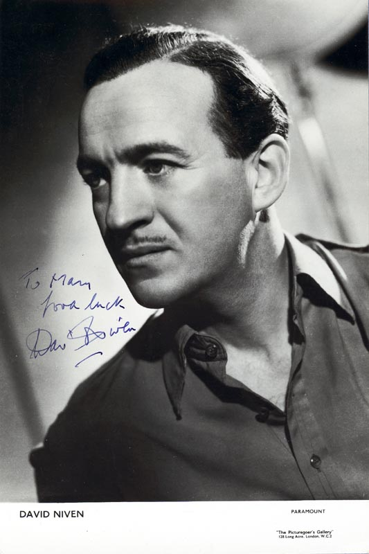 Image 1 for David Niven - Inscribed Printed Photograph Signed In Ink - HFSID 79963