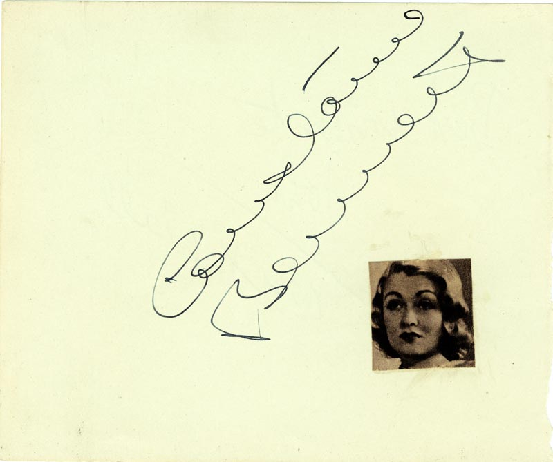 Image 1 for Constance Bennett - Autograph co-signed by: Max Wall - HFSID 80029