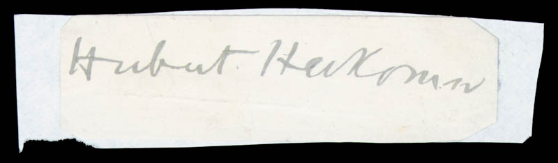 Image 1 for Hubert Herkomer - Autograph - HFSID 80187