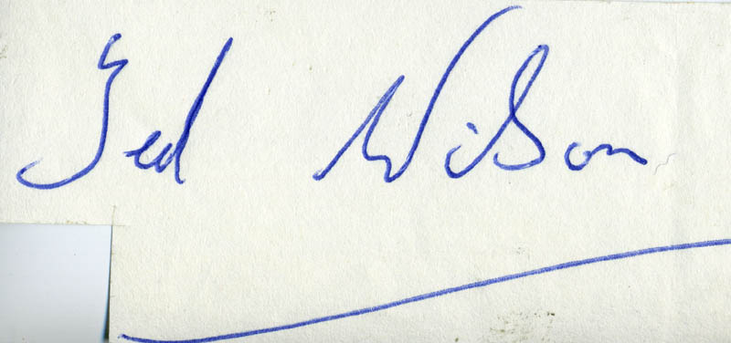 Image 1 for Ted Wilson - Autograph - HFSID 80372