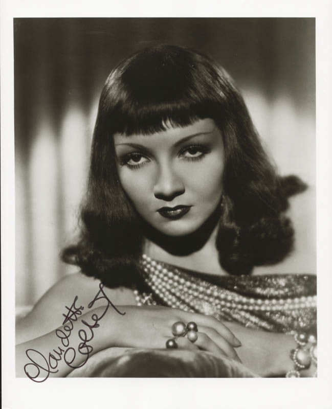 Image 1 for Claudette Colbert - Autographed Signed Photograph - HFSID 80482