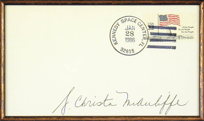 Image 3 for Christa Mcauliffe - Envelope Signed Circa 1986 - HFSID 80641