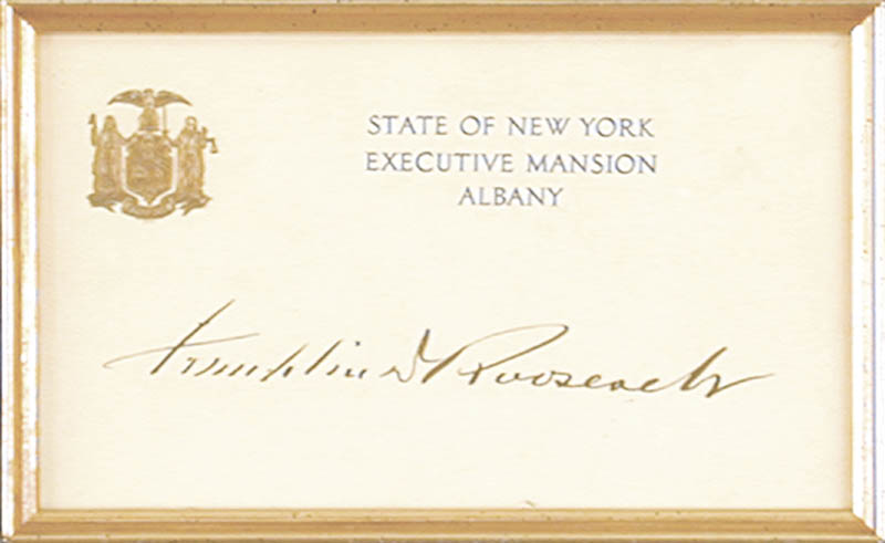 Image 3 for President Franklin D. Roosevelt - Engraved Card Signed - HFSID 80662