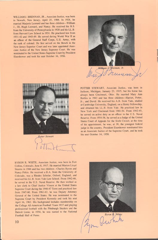 Image 3 for Chief Justice Warren E. Burger - Pamphlet Signed with co-signers - HFSID 80722