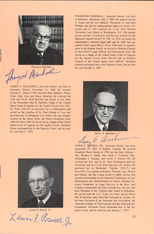 Image 4 for Chief Justice Warren E. Burger - Pamphlet Signed with co-signers - HFSID 80722