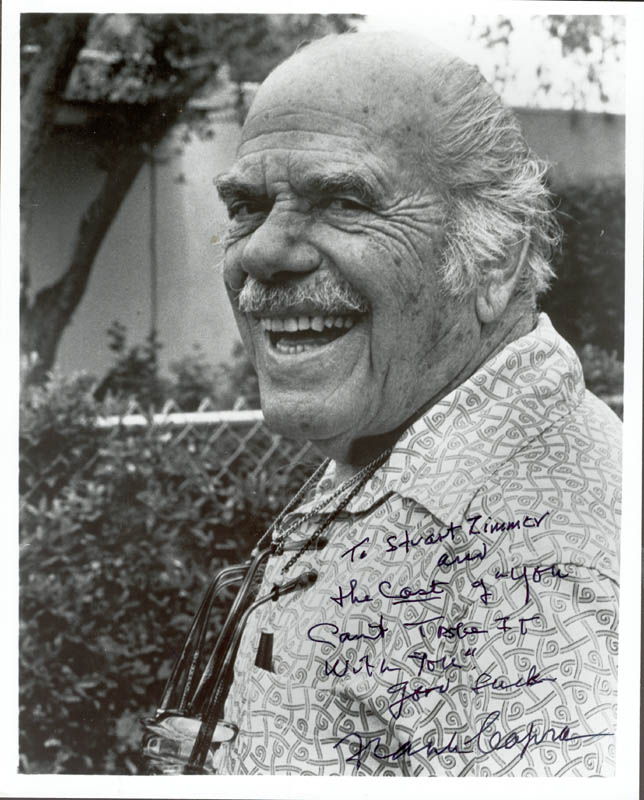 Image 1 for Frank Capra - Autographed Inscribed Photograph - HFSID 80812