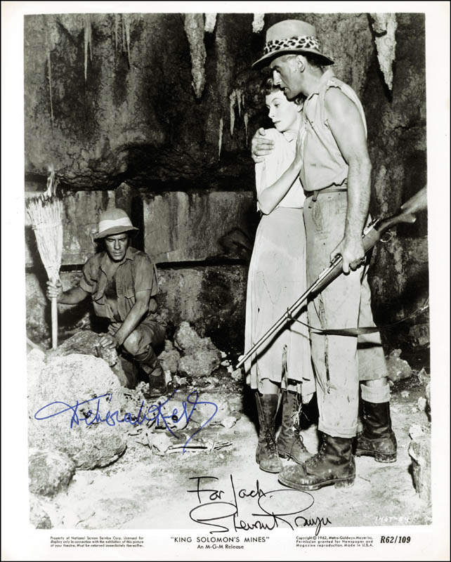 Image 1 for King Solomon''S Mines Movie Cast - Autographed Inscribed Photograph co-signed by: Stewart Granger, Deborah Kerr - HFSID 80876