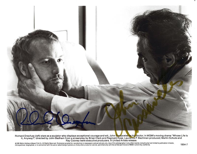 Image 1 for Whose Life Is It Anyway Movie Cast - Autographed Signed Photograph co-signed by: Richard Dreyfuss, John Cassavetes - HFSID 80878