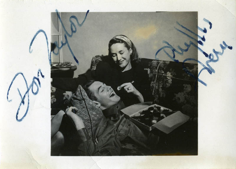 Image 1 for Don Taylor - Autographed Signed Photograph co-signed by: Phyllis Avery - HFSID 80888