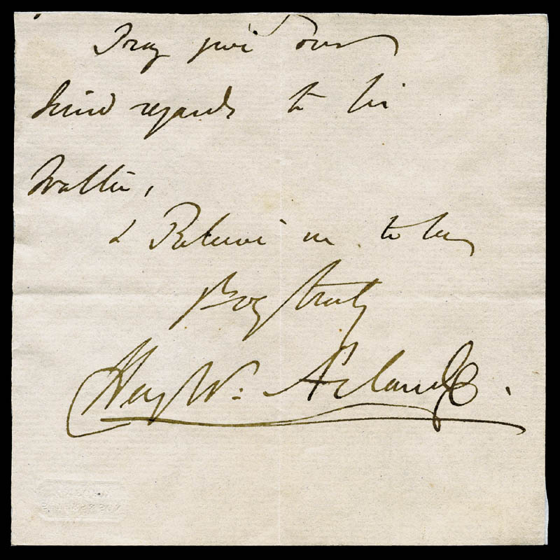 Image 1 for Sir Henry W. Acland - Autograph Sentiment Signed - HFSID 81104