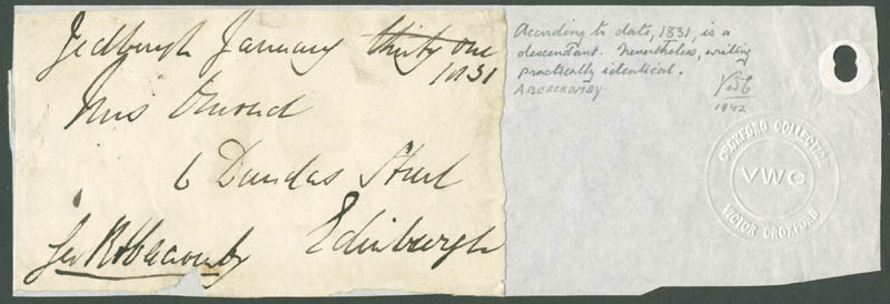 Image 1 for James (1st Baron Dunfermline) Abercromby - Autograph Envelope Signed 01/31/1831 - HFSID 81157