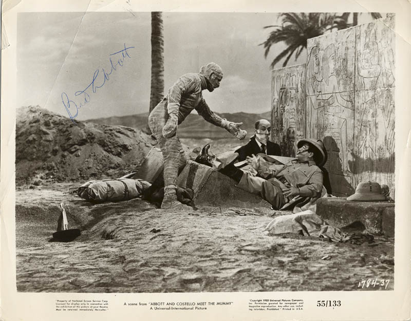 Image 1 for Abbott & Costello (Bud Abbott) - Autographed Signed Photograph - HFSID 81260