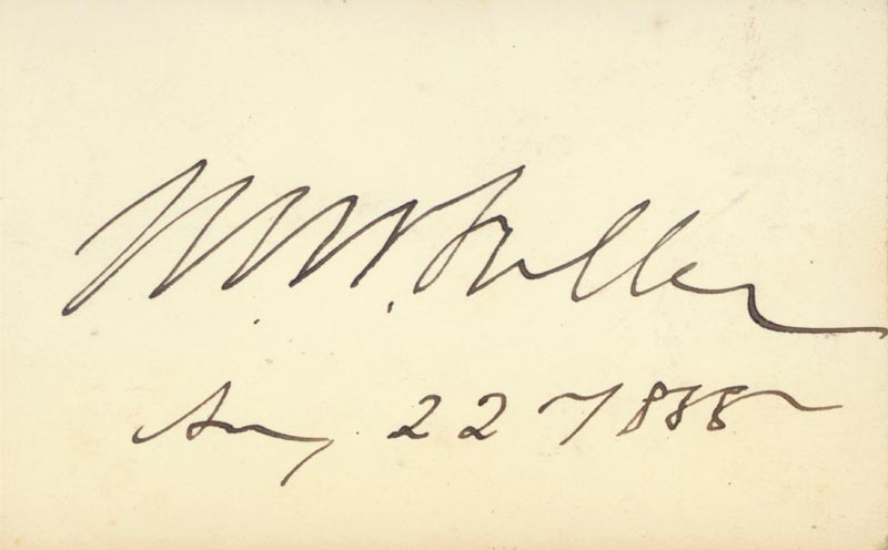 Image 1 for Chief Justice Melville W. Fuller - Autograph 08/22/1888 - HFSID 81396