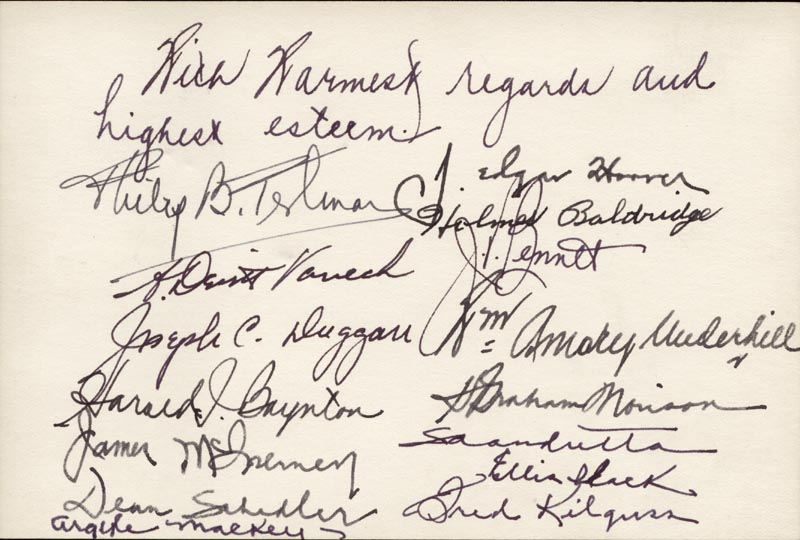 Image 1 for J. Edgar Hoover - Autograph Sentiment Signed Circa 1951 with co-signers - HFSID 82314