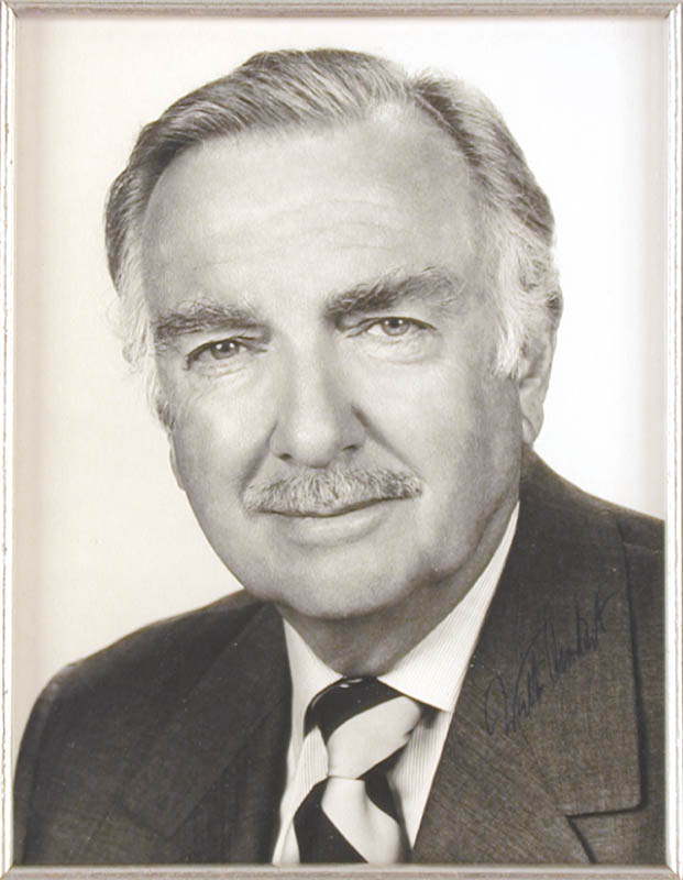 Image 3 for Walter Cronkite - Autographed Signed Photograph - HFSID 823
