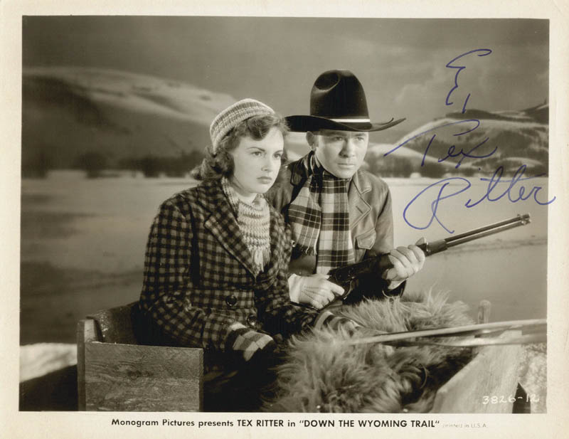 Image 1 for Tex Ritter - Autographed Signed Photograph - HFSID 82734
