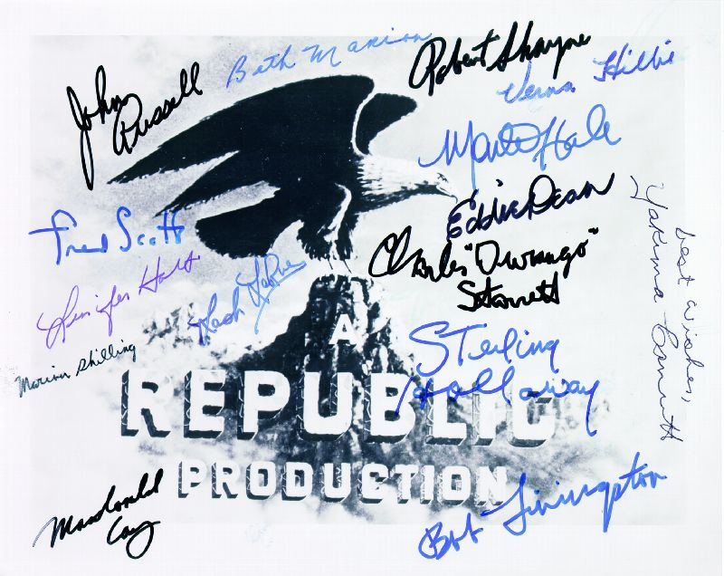 Image 1 for Republic Pictures - Autographed Signed Photograph with co-signers - HFSID 82783