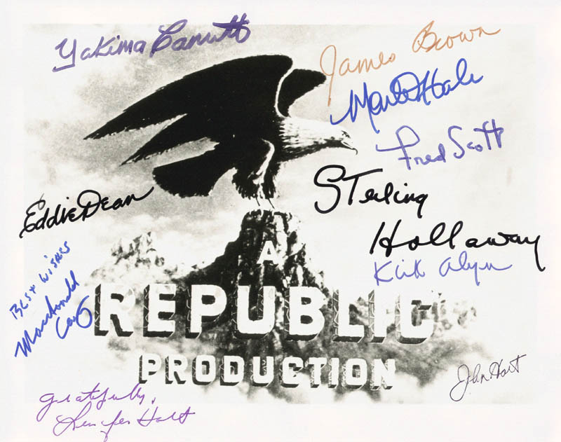 Image 1 for Republic Pictures - Autographed Signed Photograph with co-signers - HFSID 82784