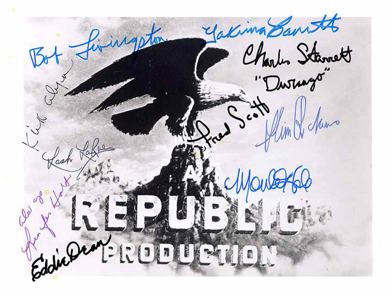 Image 1 for Republic Pictures - Autographed Signed Photograph with co-signers - HFSID 82785