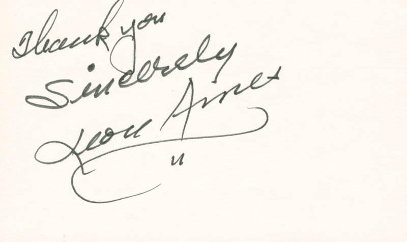 Image 1 for Leon Ames - Autograph Sentiment Signed - HFSID 82864