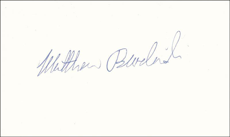 Image 1 for Matthew Broderick - Autograph - HFSID 82877