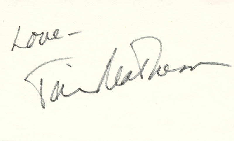Image 1 for Tim Matheson - Autograph Sentiment Signed - HFSID 82878