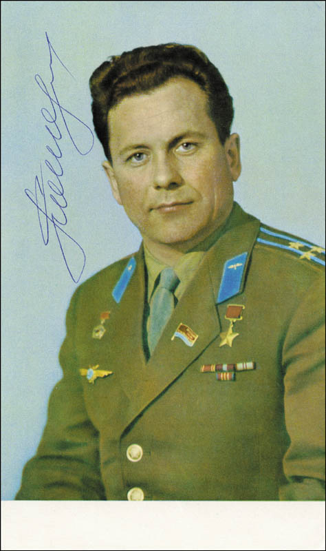 Image 1 for Major General Pavel Popovich - Autographed Signed Photograph - HFSID 83095