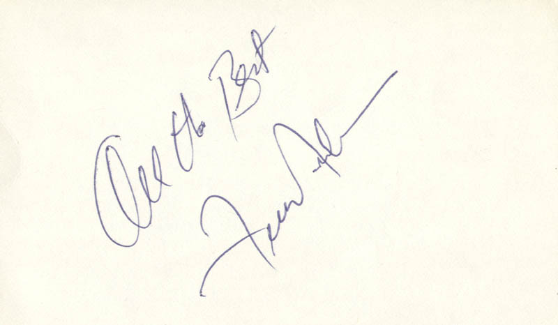 Image 1 for Frankie Avalon - Autograph Sentiment Signed - HFSID 83421