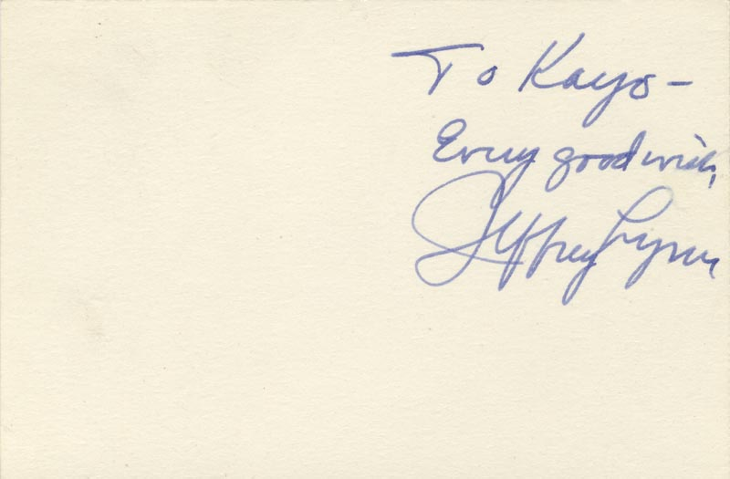 Image 1 for Jeffrey Lynn - Autograph Note Signed - HFSID 83480