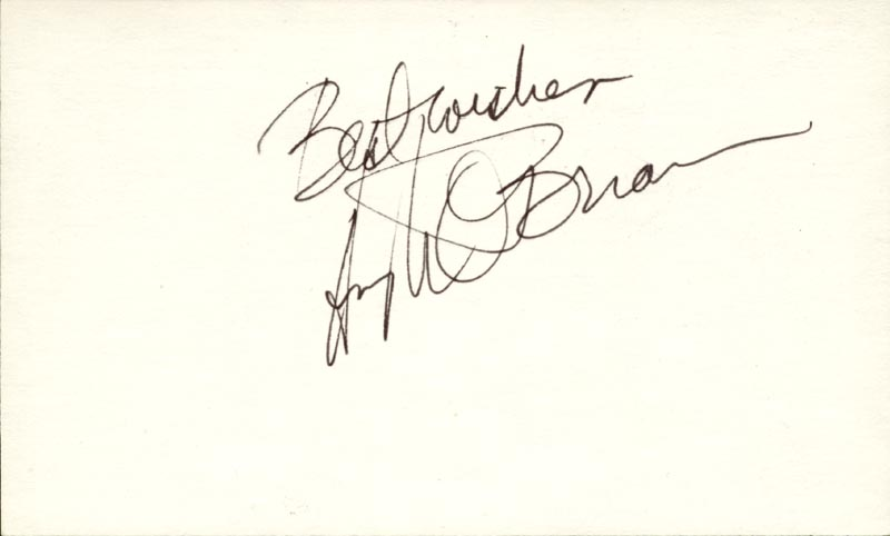 Image 1 for Hugh O'Brian - Autograph Sentiment Signed - HFSID 83497