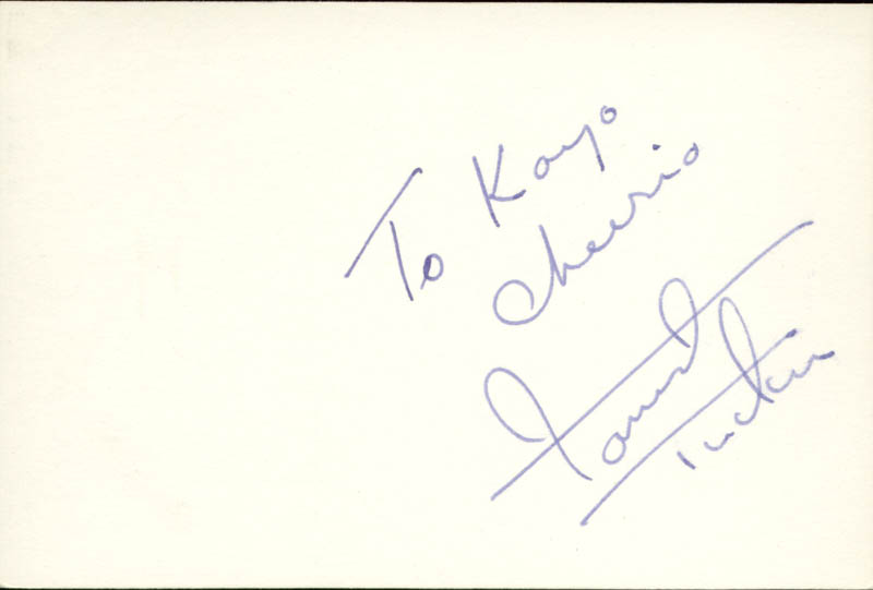 Image 1 for Forrest Tucker - Autograph Note Signed - HFSID 83550