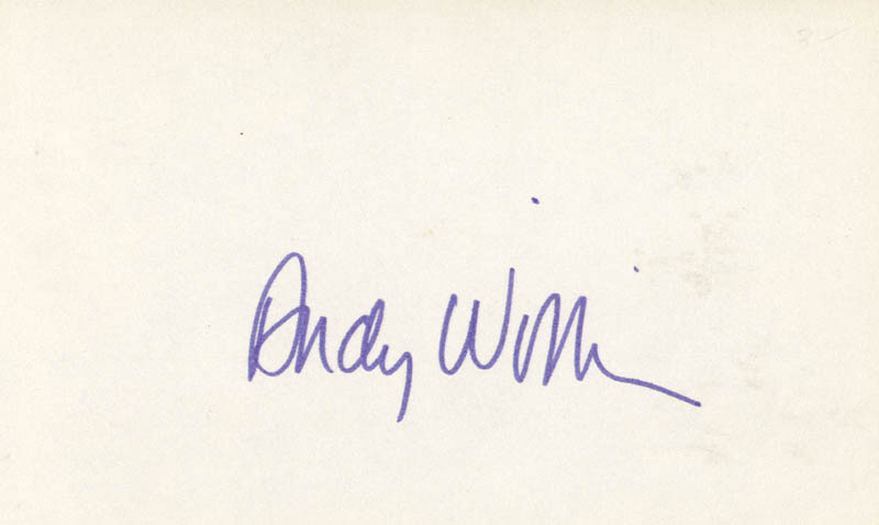 Image 1 for Andy Williams - Autograph - HFSID 83561