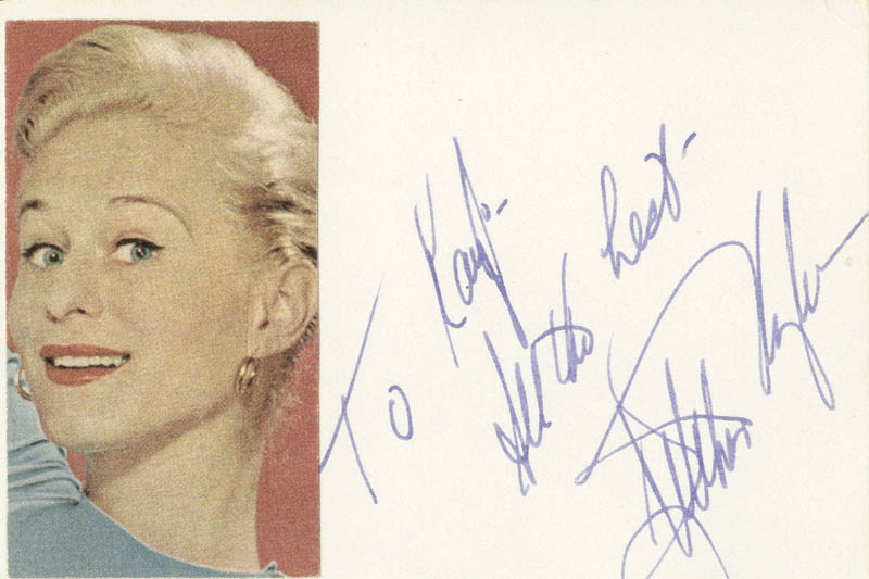 Image 1 for Gretchen Wyler - Autograph Note Signed - HFSID 83567