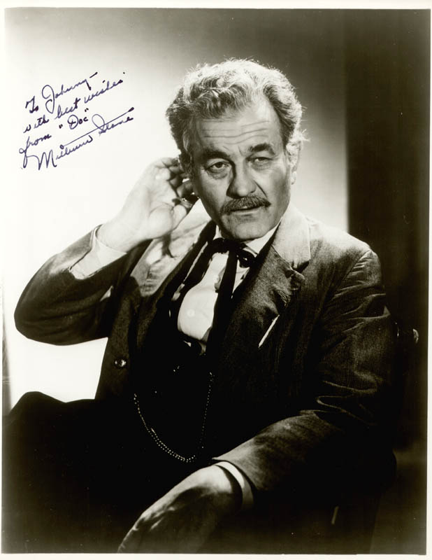 Image 1 for Milburn Stone - Autographed Inscribed Photograph - HFSID 83833