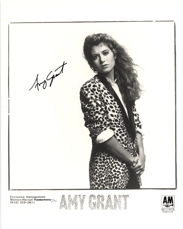 Image 1 for Amy Grant - Printed Photograph Signed In Ink - HFSID 83928