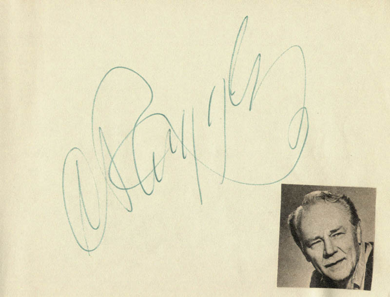 Image 1 for Charlie Ruggles - Autograph - HFSID 83945