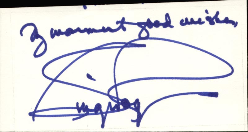 Image 1 for Ginger Rogers - Autograph Sentiment Signed - HFSID 84245
