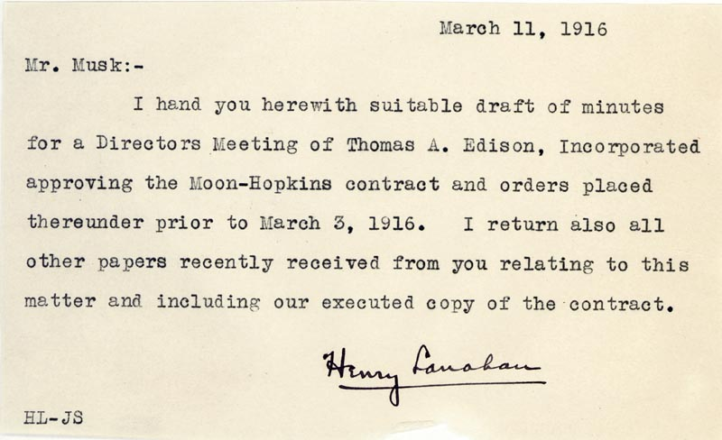 Image 3 for Thomas A. Edison - Autograph Endorsement Signed 02/29/1916 with co-signers - HFSID 84400