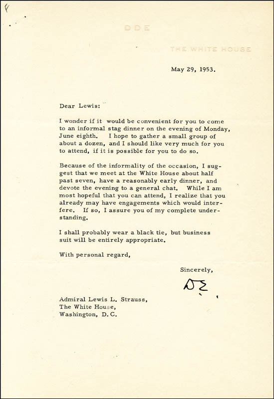 Image 1 for President Dwight D. Eisenhower - Typed Letter Signed 05/29/1953 - HFSID 84542