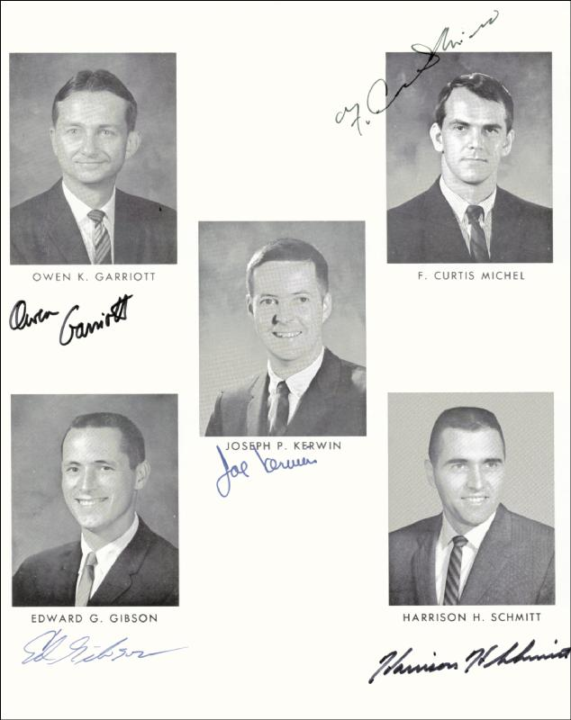 Image 1 for Harrison 'Jack' Schmitt - Autographed Signed Photograph with co-signers - HFSID 84734