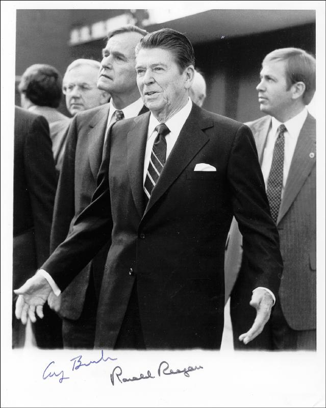 President Ronald Reagan Photograph Signed With Cosigners
