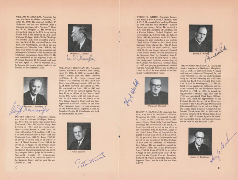 Image 3 for The Warren E. Burger Court - Pamphlet Signed Circa 1973 with co-signers - HFSID 84793
