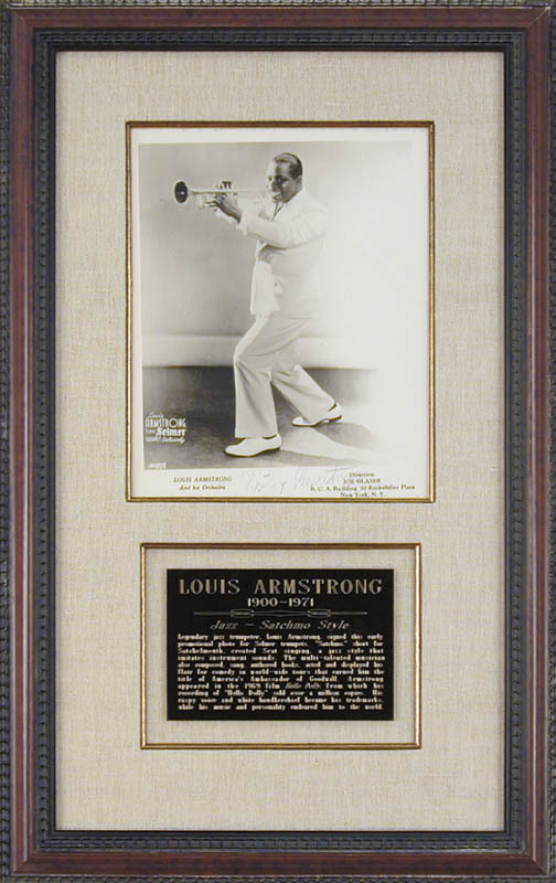 Image 1 for Louis 'Satchmo' Armstrong - Autographed Signed Photograph - HFSID 84872