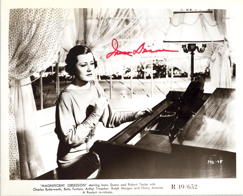 Image 1 for Irene Dunne - Autographed Signed Photograph - HFSID 85259