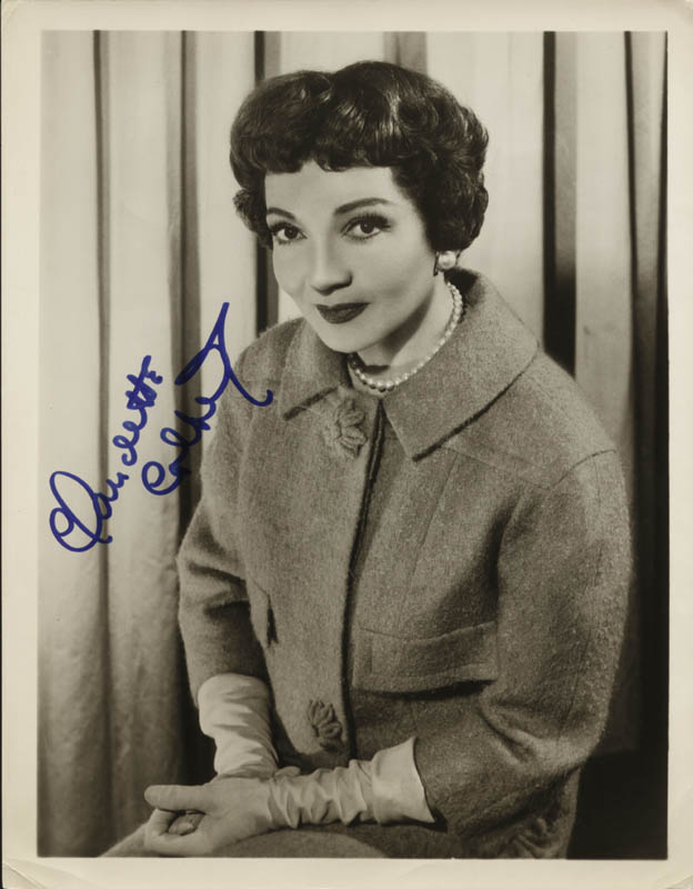 Image 1 for Claudette Colbert - Autographed Signed Photograph - HFSID 85260