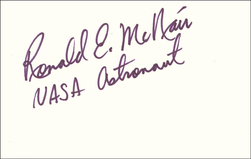 Image 1 for Ronald E. Mcnair - Autograph - HFSID 85430