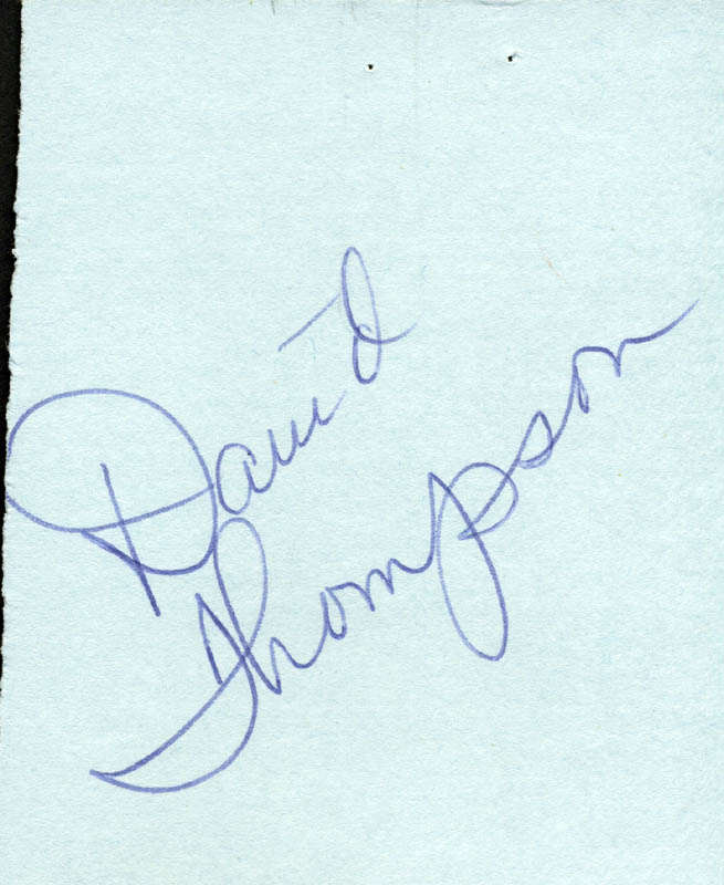 Image 1 for David Thompson - Autograph - HFSID 85612