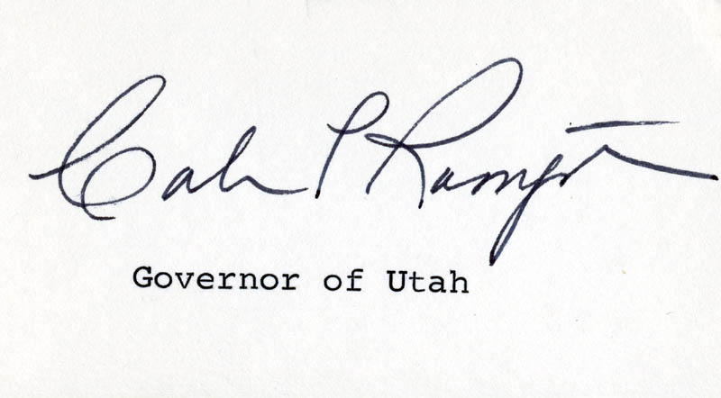The Governor of Utah Signs His